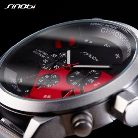 SINOBI Jam Tangan Analog Pria - 9680 - Black/Red - 2