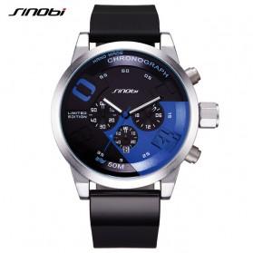 SINOBI Jam Tangan Analog Pria - 9680 - Black/Blue