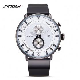 SINOBI Jam Tangan Analog Pria - 9689 - Black White - 1