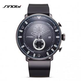 SINOBI Jam Tangan Analog Pria - 9689 - Black/Black