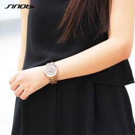 SINOBI Jam Tangan Ceramic Analog Wanita - 9390 - Black Gold - 4