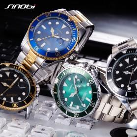 SINOBI Jam Tangan Diver Submariner Pria - 9721 - Black Gold - 2