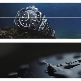 SINOBI Jam Tangan Diver Submariner Pria - 9721 - Black Gold - 5