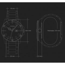 SINOBI Jam Tangan Diver Submariner Pria - 9721 - Black Gold - 6