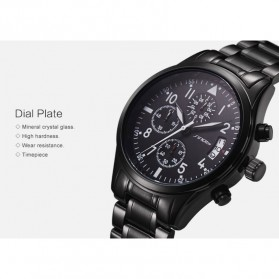 SINOBI Jam Tangan Pilot Chrono Pria - 9639 - Black - 6