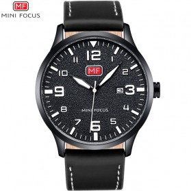 MINI FOCUS Jam Tangan Analog Pria - MF0158G - Black