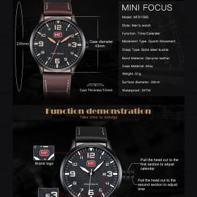 MINI FOCUS Jam Tangan Analog Pria - MF0158G - Black - 6