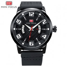 MINI FOCUS Jam Tangan Analog Pria - MF0149G - Black