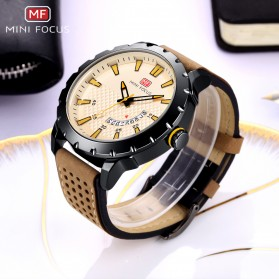 MINI FOCUS Jam Tangan Analog Pria - MF0150G - Brown/Black - 2