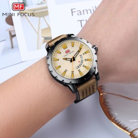 MINI FOCUS Jam Tangan Analog Pria - MF0150G - Brown/Black - 3