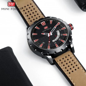 MINI FOCUS Jam Tangan Analog Pria - MF0150G - Brown/Black - 5