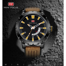 MINI FOCUS Jam Tangan Analog Pria - MF0150G - Brown/Black - 7