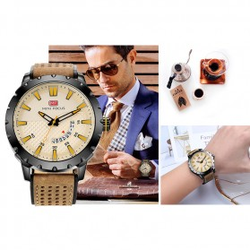 MINI FOCUS Jam Tangan Analog Pria - MF0150G - Brown/Black - 9