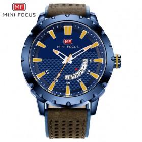 MINI FOCUS Jam Tangan Analog Pria - MF0150G - Brown/Blue