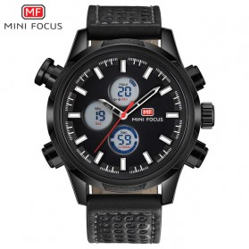 MINI FOCUS Jam Tangan Analog Pria - MF0066G - Black White