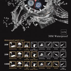 MINI FOCUS Jam Tangan Analog Pria - MF0066G - Black White - 7