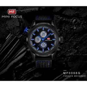 MINI FOCUS Jam Tangan Analog Pria - MF0066G - Black White - 8