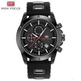 MINI FOCUS Jam Tangan Analog Pria - MF0089G - Black
