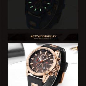 MINI FOCUS Jam Tangan Analog Pria - MF0089G - Black - 8