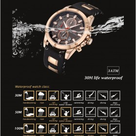 MINI FOCUS Jam Tangan Analog Pria - MF0089G - Black - 9