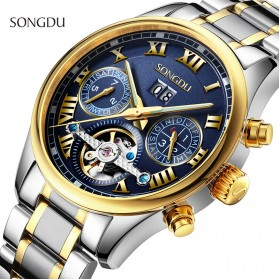 SONGDU Jam Tangan Mechanical Pria Automatic Movement - 7002M - Silver Blue - 4