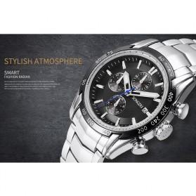 SONGDU Jam Tangan Pria Strap Stainless Steel - 9217M - Black - 3