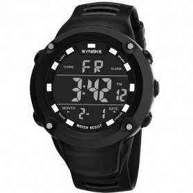 SYNOKE Jam Tangan Digital Sporty Pria - 9638 - Black