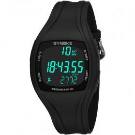 SYNOKE Jam Tangan Digital Pria Pedometer - 9105 - Black