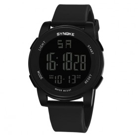 SYNOKE Jam Tangan Digital Sporty Pria - 9002 - Black
