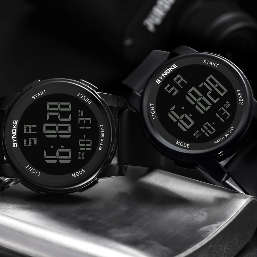 SYNOKE Jam Tangan Digital Sporty Pria - 9002 - Black