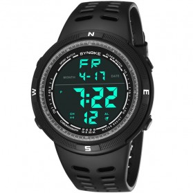 SYNOKE Jam Tangan Digital Sporty Pria - 9698 - Black