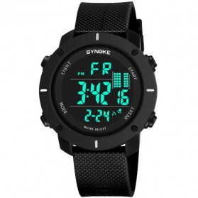 SYNOKE Jam Tangan Digital Sporty Pria - 9658 - Black