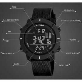 SYNOKE Jam Tangan Digital Sporty Pria - 9658 - Black - 6