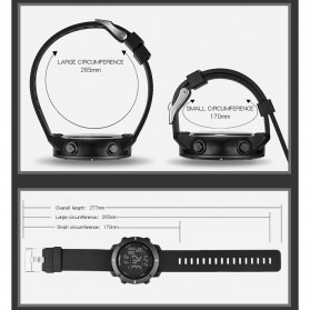 SYNOKE Jam Tangan Digital Sporty Pria - 9658 - Black - 7
