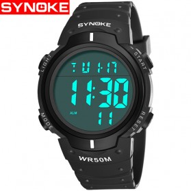 SYNOKE Jam Tangan Digital Sporty Pria - 9668 - Black White