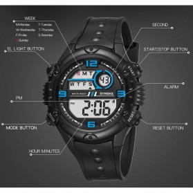 SYNOKE Jam Tangan Digital Sporty Pria - 9628 - Black - 5