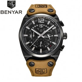 BENYAR Bergani Jam Tangan Analog - BY-5112M - Black