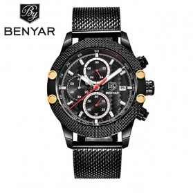BENYAR Bergani Jam Tangan Analog - BY-5109M - Black