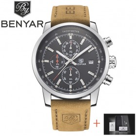 BENYAR Bergani Jam Tangan Analog - BY-5102M - Brown/Black