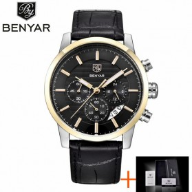 BENYAR Bergani Jam Tangan Analog - BY-5104M - Black Gold - 1