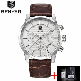 BENYAR Bergani Jam Tangan Analog - BY-5104M - Brown/White