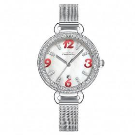 NIBOSI Jam Tangan Luxury Wanita - 2317-3 - White/Silver - 2