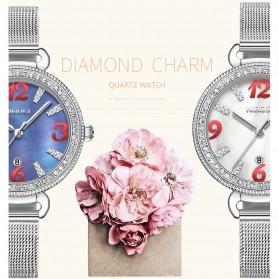 NIBOSI Jam Tangan Luxury Wanita - 2317-3 - White/Silver - 5