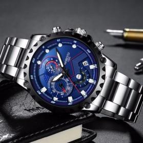NIBOSI Jam Tangan Chronograph Pria - 2322 - Silver Blue