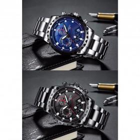NIBOSI Jam Tangan Chronograph Pria - 2322 - Silver Black - 4
