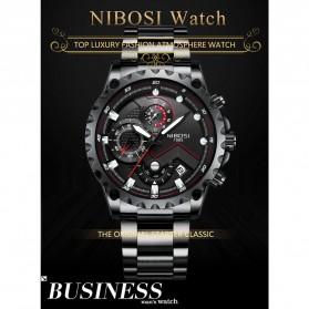 NIBOSI Jam Tangan Chronograph Pria - 2322 - Silver Black - 6