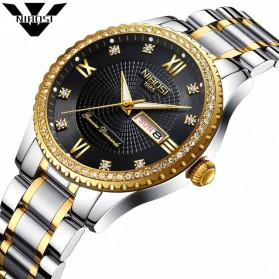 NIBOSI Jam Tangan Kasual Luxury Pria - 2315 - Black Gold - 1