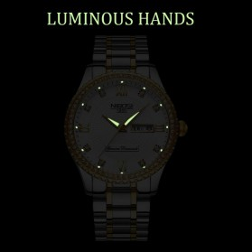 NIBOSI Jam Tangan Kasual Luxury Pria - 2315 - Black Gold - 6