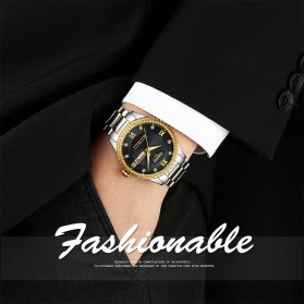 NIBOSI Jam Tangan Kasual Luxury Pria - 2315 - Black Gold - 7