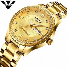 NIBOSI Jam Tangan Kasual Luxury Pria - 2315 - Golden